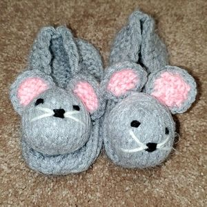 Vintage homemade mouse slippers.
